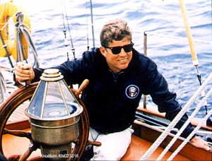 JFK sailing off the Massachussetts coast.