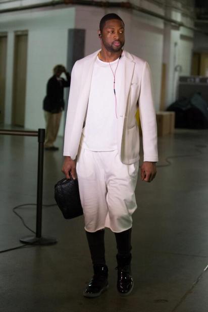 Dwyane-wade-outfit-tonight-shorts-suit-game-2-ecf-2014-nba-playoffs-1