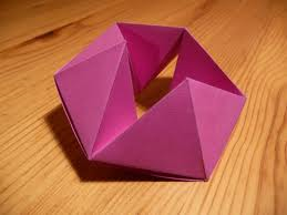 Hexaflexagon. I looked it up.