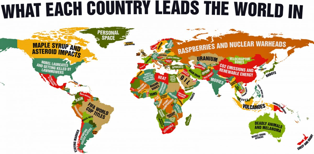 Map of the day what each country leads the world in shoe untied map6 gumiabroncs Images