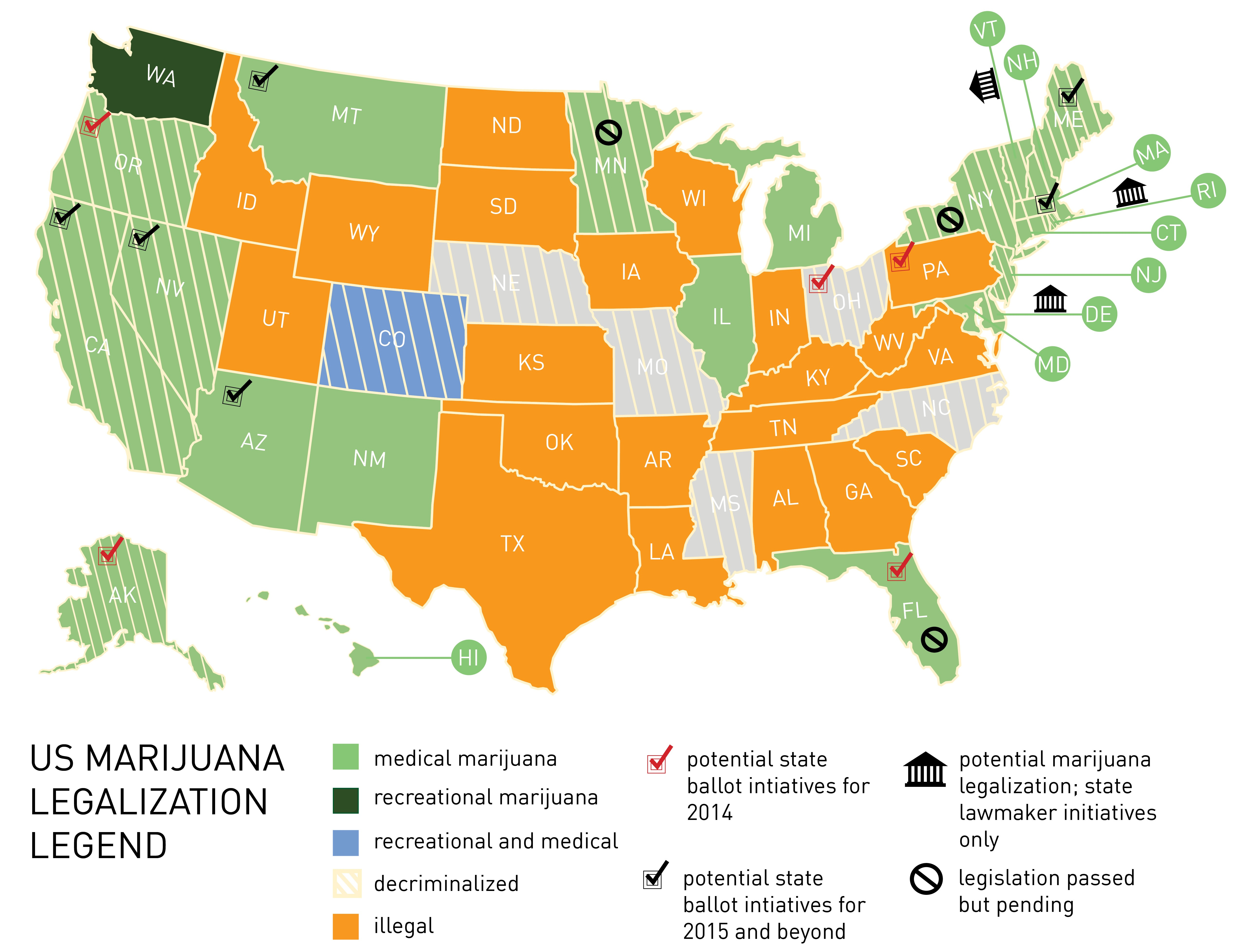 a brief introduction of the marijuana controversy in the united states Today, 29 states and washington, dc, have legalized medical marijuana, and 8 states plus dc have legalized it for recreational use it's illegality at the national level has created tension.