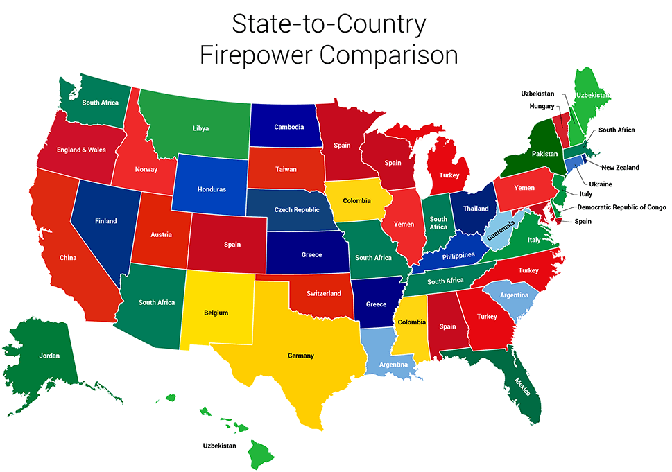 Map of the day state to country firepower comparison shoe untied 1aa gumiabroncs Choice Image