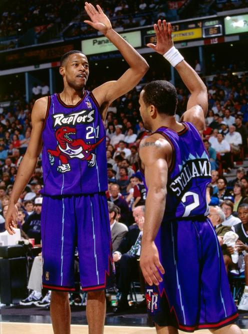 Toronto-Raptors-uniform-1997-Marcus-Camby-Damon-Stoudamire