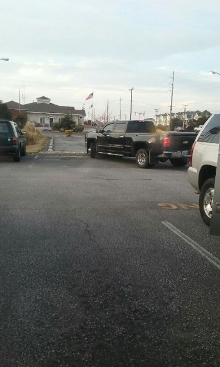 From Kill Devil Hills, NC, here's your 318th Asshat of the Day! Disgusting parking job here, man! Thanks to original Asshat Patrol member Angie Johnson for busting this asshat!