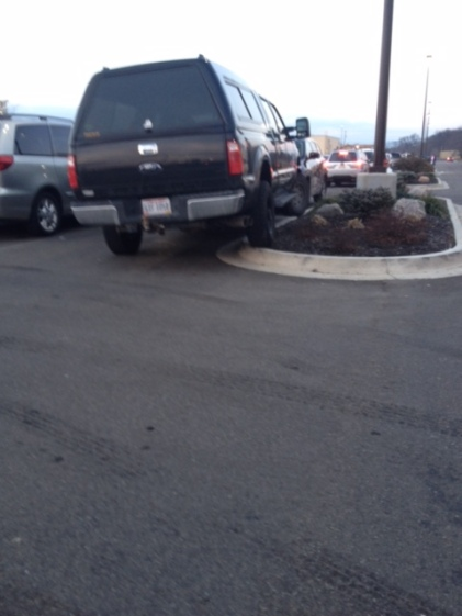 From Dick's Sporting Goods in Chillicothe, Ohio, here's your 279th Asshat of the Day! Dude's proving he can go off-road in Dick's parking lot! Thanks to Asshat Patrol member and son of PV legend Craig Kerns, Davis Kerns for busting this asshat!