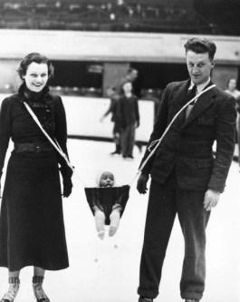 Unfortunately little Ernie was concussed when Mryna and Eddie went opposite ways around a light pole.