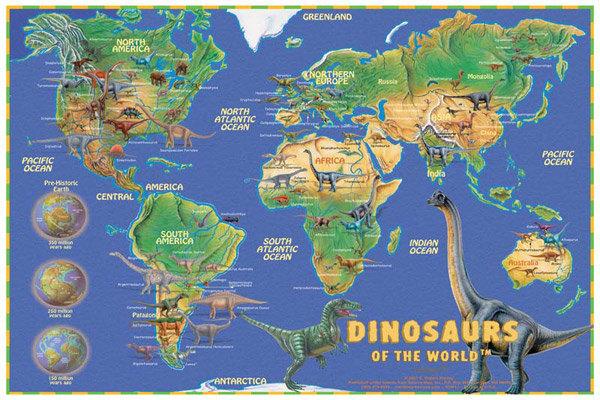 mapofdinosaurs