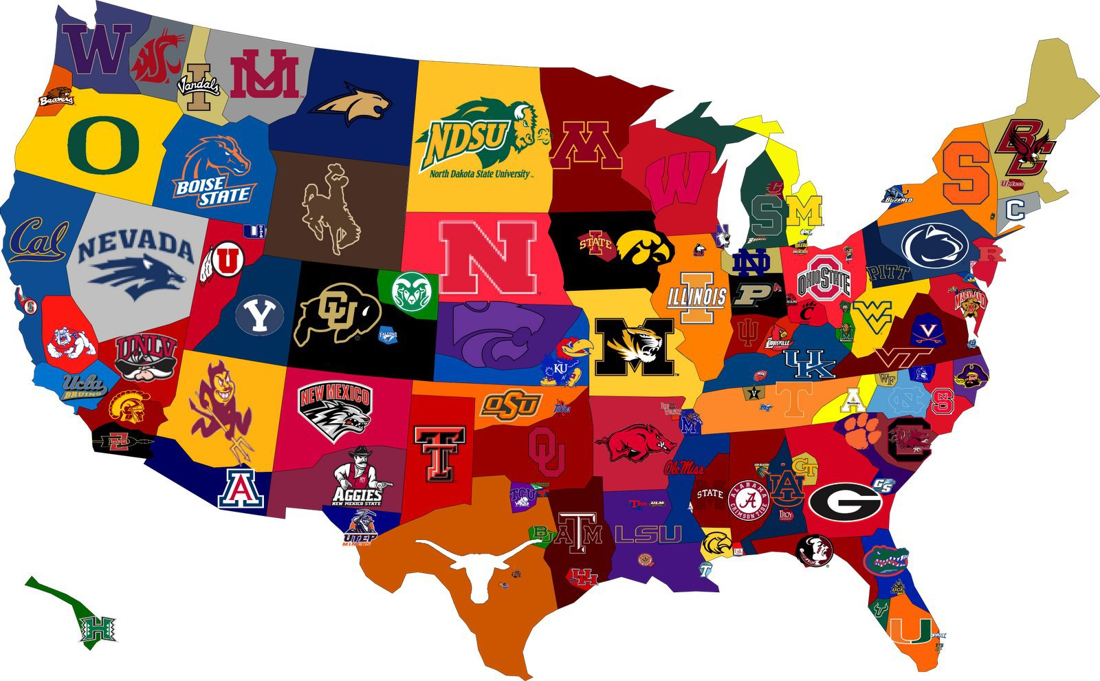 Map of the Day: Best Sports Colleges in the USA | Shoe: Untied