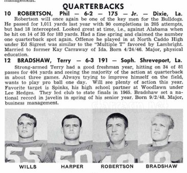 Phil_Robertson_Louisiana_Tech_football_1967_Terry_Bradshaw