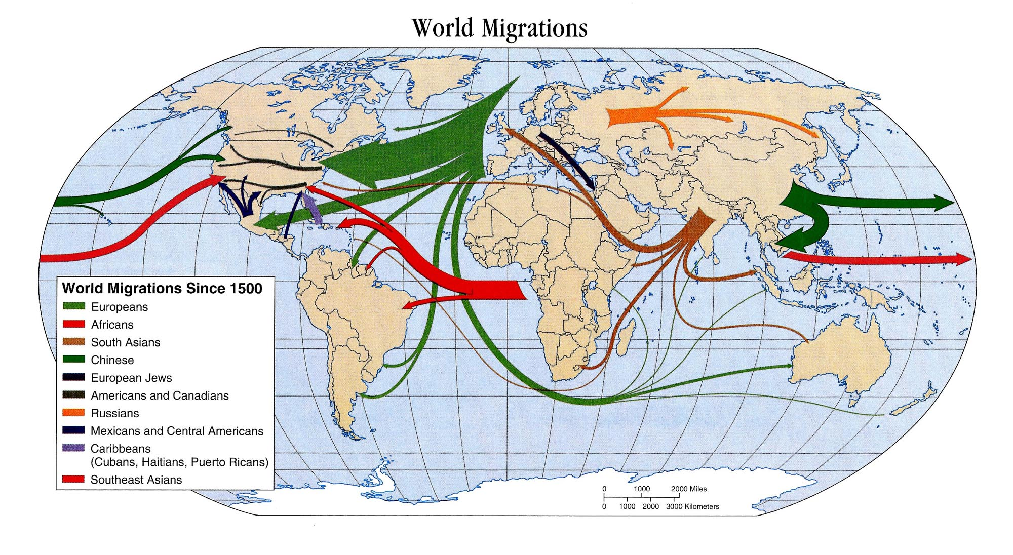 Map of the Day World Migrations Since 1500 Shoe Untied