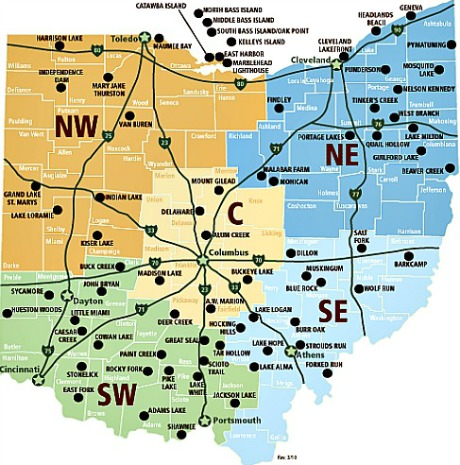 state park ohio map Map Of The Day Ohio State Parks Shoe Untied