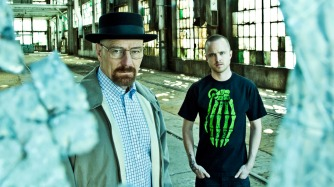 Walter White (Bryan Cranston) and Jesse Pinkman (Aaron Paul) - Breaking Bad - Gallery - Photo Credit: Frank Ockenfels/AMC