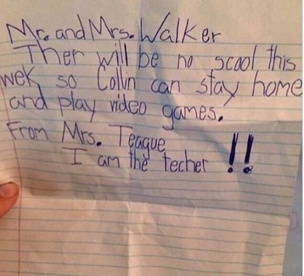 This May Be The Greatest Fake Teacher Note In The History Of Fake ...