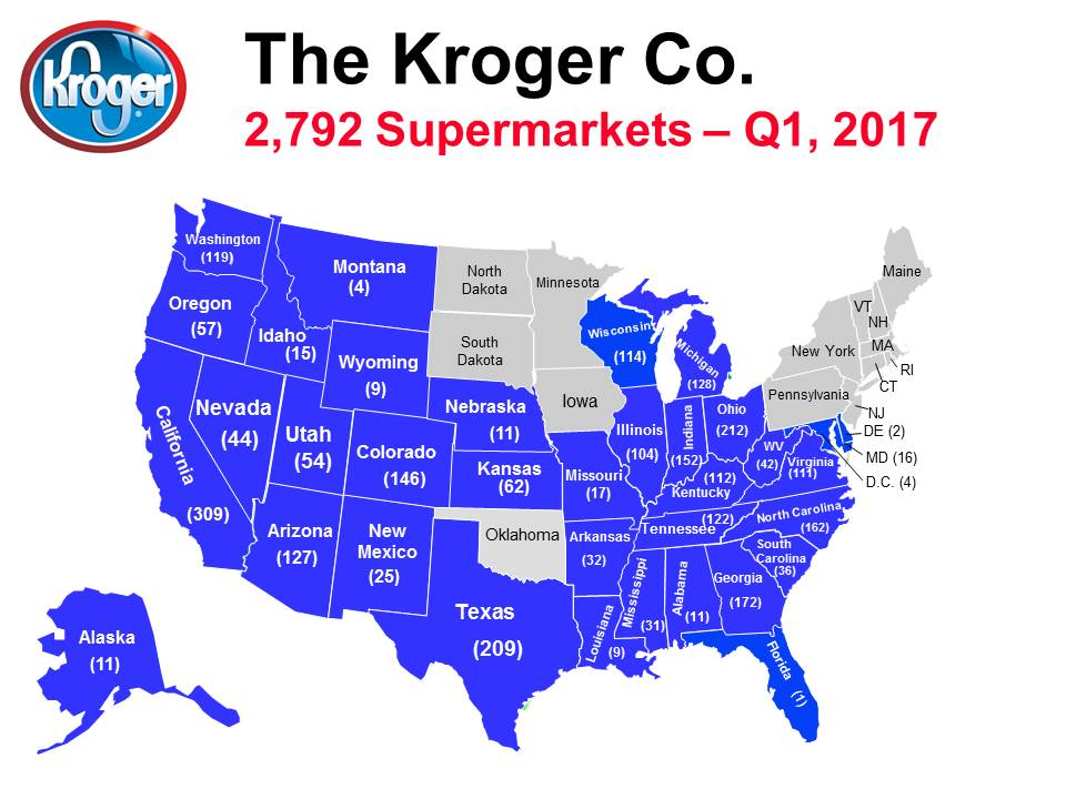 Map of the Day: Kroger in the USA | Shoe: Untied