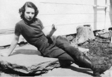My Grandma Smoking Her Cigarette On The Farm. Wearing Pants And Doing Whatever The Hell She Wanted, 1938