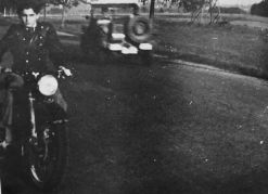 My Grandfather On A Motorcycle He Stole From A Nazi, Weeks After American Troops Liberated Him From A Concentration Camp In Landsberg, Germany (May 1945). He Had Spent 4 Years In Concentration Camps Around Poland And Germany