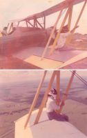 My Granny On The Wing Of My Dad's Cropduster Plane. She Did This Many Times