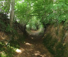 Path worn down over hundreds of years.