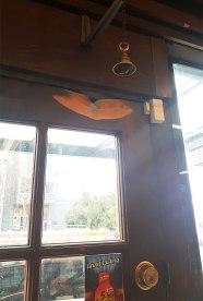 Door and doorbell.