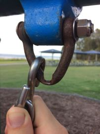 Swingset after years of use.