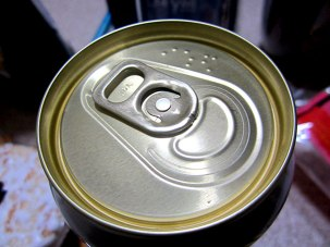 In Japan they have the name of the soda in braille on top of the can.