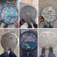 In Japan the manhole covers are works of art.
