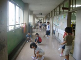 In Japan the students clean their own hallways and rooms to teach respect for their schools.