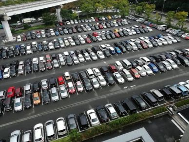 In Japan most people reverse park.