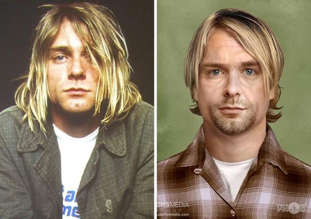 Kurt Cobain, lead singer of Nirvana, who shot himself in 1994. He'd be 51 today.