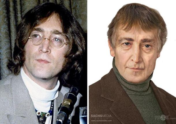 John Lennon of The Beatles, murdered in 1980. He'd be 77 today.