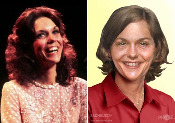 Karen Carpenter of The Carpenters, who died from complications of heart failure in 1983. She'd be 68 had she lived.