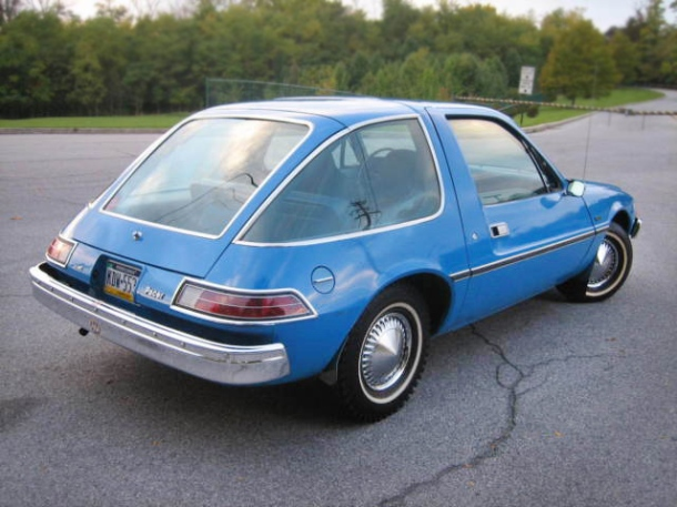 The famous GMC Pacer, which they quit making because the 700-pounds of windows killed everybody within a mile whenever somebody wrecked.
