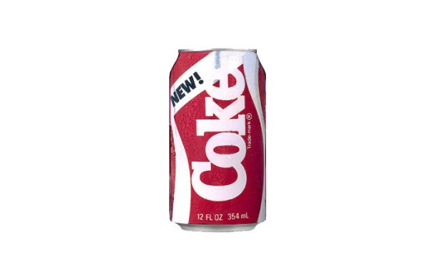 The legendary New Coke, which tasted like weasel piss.
