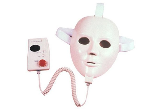 This was supposed to stimulate your facial muscles or something. Too bad it made you look like an alien serial killer.