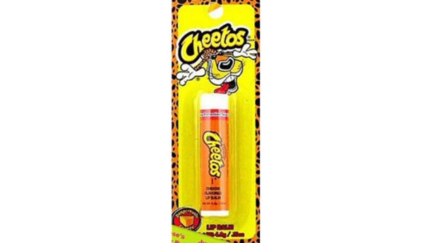 Cheetos flavored lip balm? Good Lord.