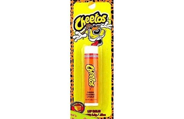 Cheetos flavored lip balm? Good Lord.
