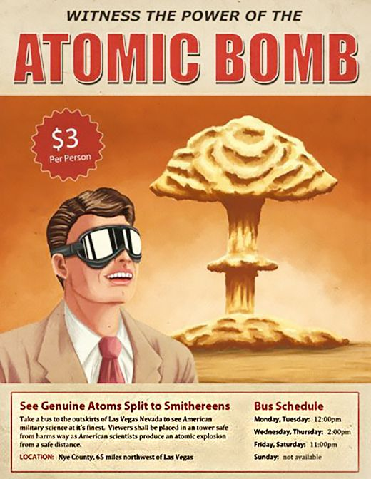 Yes, people were invited to watch Atomic Bomb Testing. And people paid to do it. Radiation schmadiation, man!