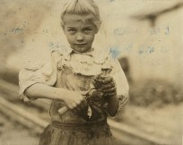 This is Rosie. She was a 7-year old Oyster Shucker. She worked from dawn to dusk at the Varn & Platt Canning Company in Bluffton, South Carolina.