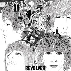Revolver featured a cover illustration by German musician and artist Klaus Voormann, who they met in amphetamine-munching spell spent in Hamburg in the early 1960s. If you look closely, Voormann's own photograph as well as his name is worked into Harrison's hair on the right-hand side of the cover. His design ended up winning a Grammy for Best Album Cover.
