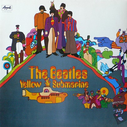 Yellow Submarine featured an illustration of the band by Heinz Edelman in the style of the film, which also doubled as the film's poster. The film and its sleeve were the peak of the Beatles' psychedelic period. This also led to the memorable Beatles cartoon!