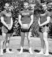 Here's the Donald working at a camp when his friends were all in Vietnam.