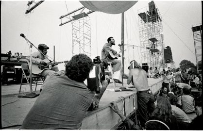 Richie Havens photographed at Woodstock in Bethel, NY August of 1969 © Jim Marshall Photography LLC.