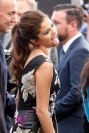"Selena Gomez imitates Miley Cyrus at the premiere of ""Getaway"""